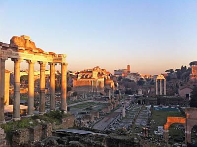 Roma Photograph - Forum Sight With Coloseum by Daniele Zambardi