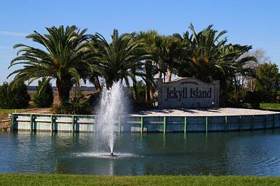 Photograph - Fountain And Pond by Kathryn Meyer