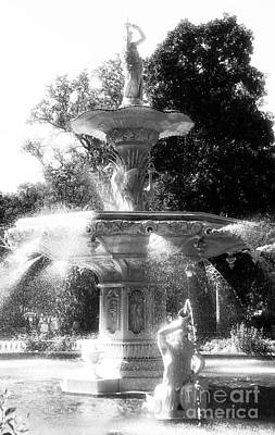 Savannah Fine Art . Savannah Old Trees Photograph - Fountain Dance by John Rizzuto