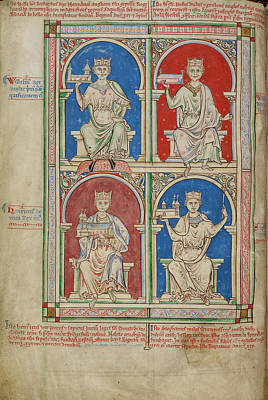 Four Kings Of England Print by British Library