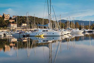Sud Photograph - France, Corsica, Porto Vecchio, Marina by Walter Bibikow