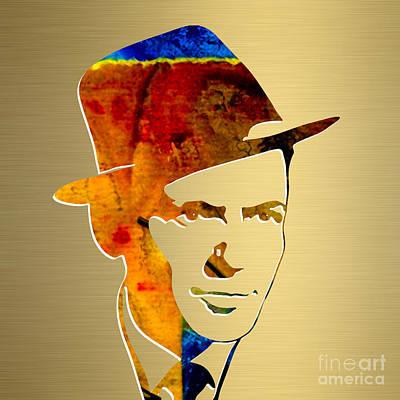 Frank Sinatra Gold Series Art Print by Marvin Blaine