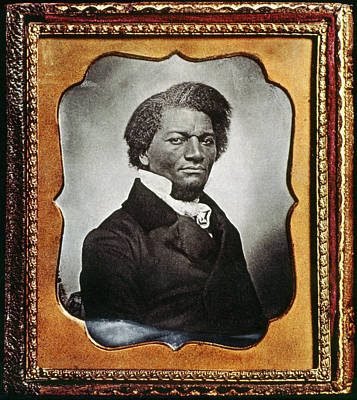Abolition Movement Painting - Frederick Douglass (c1817-1895) by Granger