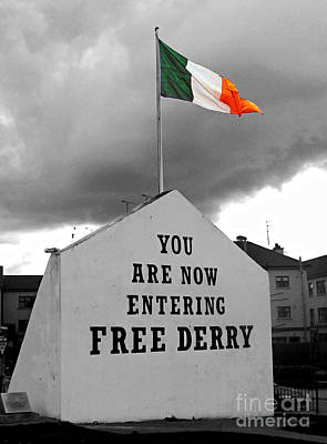 Photograph - Free Derry Wall 1 by Nina Ficur Feenan
