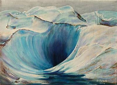 Chamonix Painting - Freeze by Danielle Arnal
