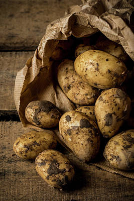 Paper Bags Photograph - Fresh Potatoes by Aberration Films Ltd