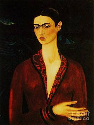Frida Kahlo Self Portrait Art Print by Pg Reproductions