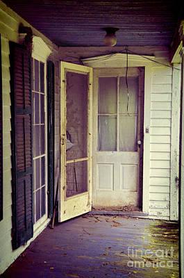 Front Door Of Abandoned House Art Print by Jill Battaglia