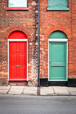 Victorian Town Photograph - Front Doors by Tom Gowanlock