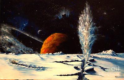 Painting - Frozen Geyser by Murphy Elliott