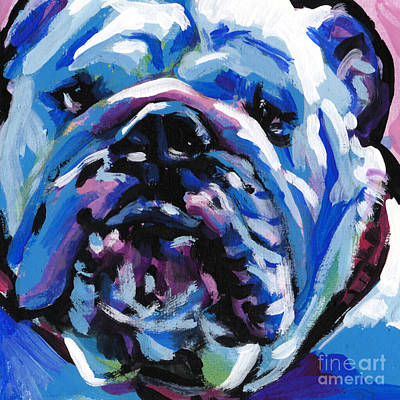 English Bulldog Painting - Full Of Bull by Lea S