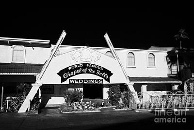 Las Vegas Wedding Photograph - fun city motel and chapel of the bells wedding chapel on the strip Las Vegas Nevada USA by Joe Fox
