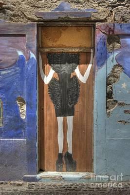 Photograph - Funchal Door Art 2 by David Birchall