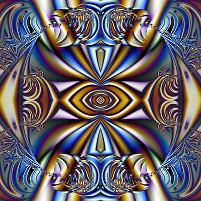 Gina Manley Digital Art - Funky Fractal Kaleidoscope by Gina Lee Manley