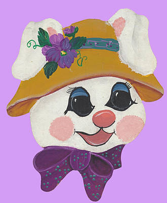 Special Occassion Painting - Funny Bunny by Barbara McDevitt