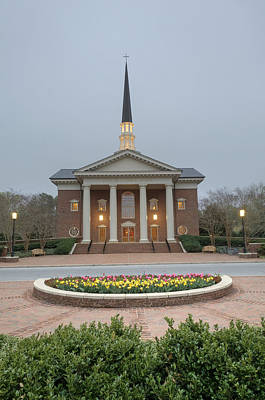 Photograph - Furman University Charles Daniel Chapel   Greenville Sc by Willie Harper