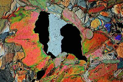 Crystalline Photograph - Gabbro Microcrystals by Antonio Romero