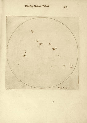 Solar Phenomena Photograph - Galileo's Observation Of Sunspots by Library Of Congress