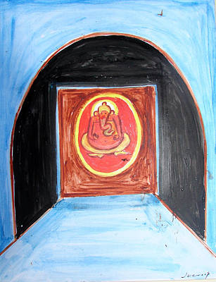 Painting - Ganesha-a11 by Anand Swaroop Manchiraju