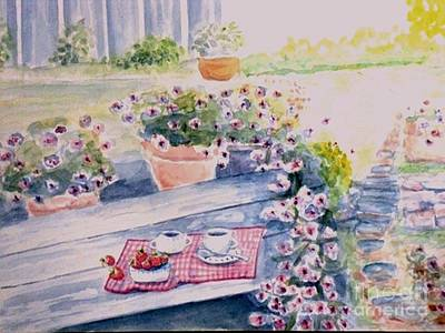Painting - Garden Morning by Craig Calabrese