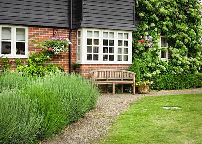 Window Bench Photograph - Garden Path by Tom Gowanlock