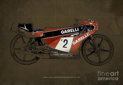 Garelli 50cc Grand Prix Racing Motorcycle 1983 Art Print by Pablo Franchi