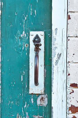 Old Wood Outhouse Photograph - Gate Handle by Tom Gowanlock