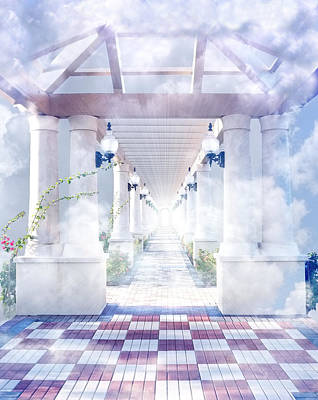 Surrealism Royalty Free Images - Gateway to Heaven Royalty-Free Image by Rudy Umans