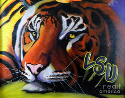 Painting - Geaux Tigers by Clifford Etienne