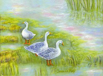 Painting - Geese At Sunset by Jeanne Kay Juhos
