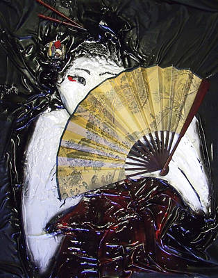 Mixed Media - Geisha Girl by Angela Stout
