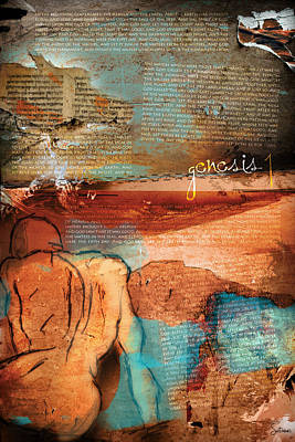 Holiness Digital Art - Genesis 1 by Switchvues Design