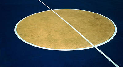 Photograph - Geometry On The Basketball Court by Gary Slawsky