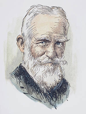 Sturges Drawing - George Bernard Shaw (1856-1950) by Granger