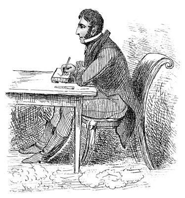 Self-portrait Drawing - George Cruikshank (1792-1878) by Granger