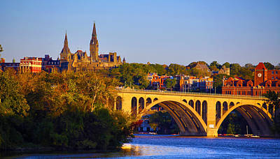 University Photograph - Georgetown by Mitch Cat