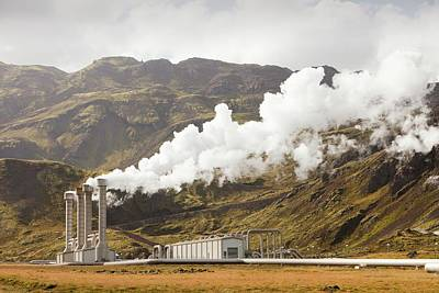 Geothermal Power Station Art Print by Ashley Cooper