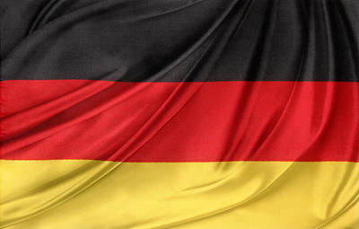 German Flag Art Print by Les Cunliffe