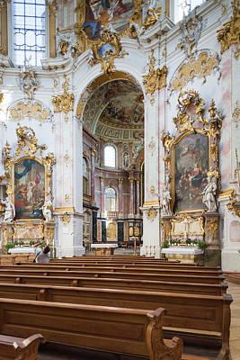 Germany, Bavaria, Ettal, Kloster Ettal Art Print by Walter Bibikow