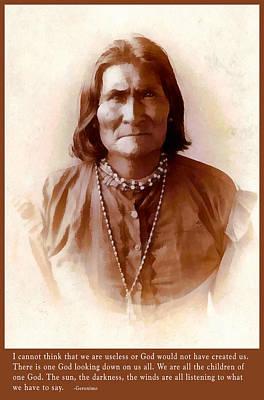 Digital Art - Geronimo Native American Chief by Unknown