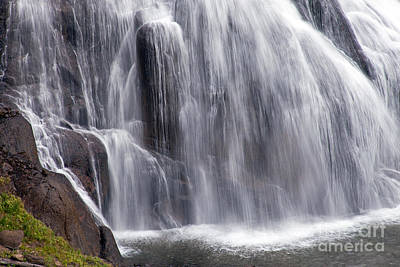 Photograph - Gibbon Falls by Fred Stearns
