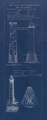 Ocean Scenes Drawing - Gibbs Hill Lighthouse by Jerry McElroy