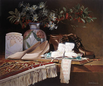 Traditional Still Life Painting - Gift Of God by Graham Braddock