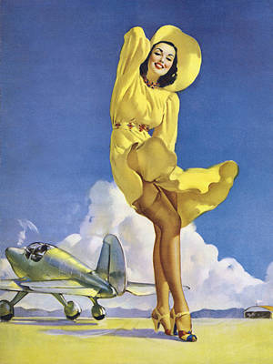 Colour Image Photograph - Gil Elvgren's Pin-up Girl by Gil Elvgren