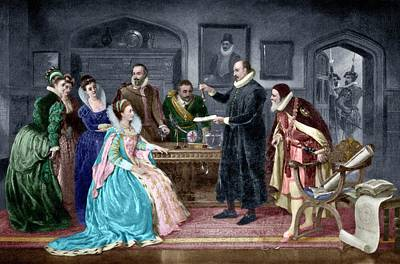Gilbert Shows Electricity To Elizabeth I Art Print