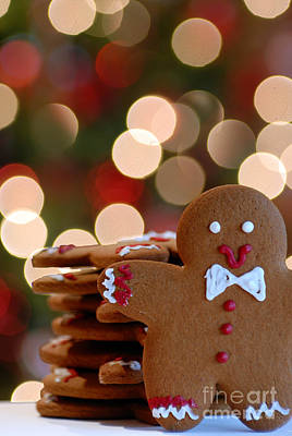 Christmas Cookies Photograph - Ginger-bokeh by Amy Cicconi
