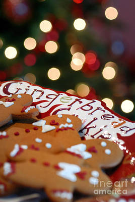 Christmas Cookies Photograph - Gingerbread Cookies On Platter by Amy Cicconi