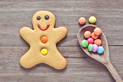 Christmas Cookies Photograph - Gingerbread Man by Tom Gowanlock