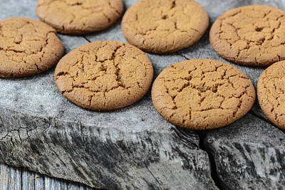 Ginger Snap Photograph - Gingersnap Cookies For Christmas by Brandon Bourdages