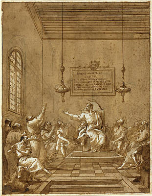 Wash Drawing - Giovanni Domenico Tiepolo Italian, 1727 - 1804 by Quint Lox